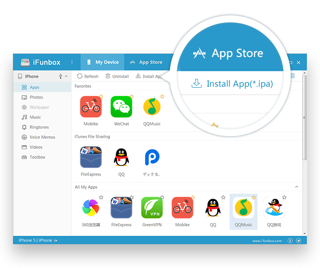i-Funbox full screenshot